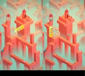 Żółty Totem to druga grywlna postać w grze. Jak widać coś co było podłożem, za chwilę może stać się ścianą.