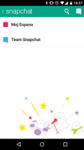 Lista wiadomości Snapchat