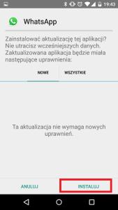 instalacja WhatsApp z pliku APK