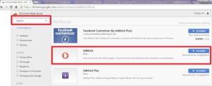 Adblock w sklepie Google Chrome