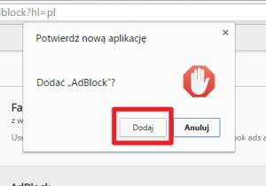 Dodaj Adblock do przeglądarki