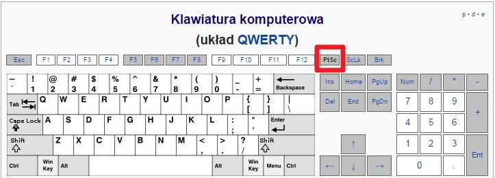 Klawiatura - Print Screen PrtScr