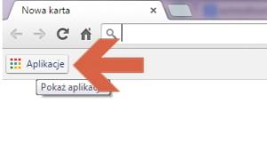 Skrót aplikacji w Google Chrome