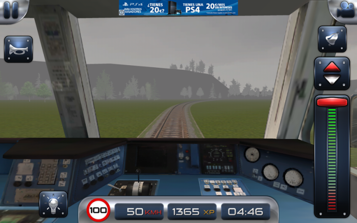 Train Driver 15 widok z pulpitu