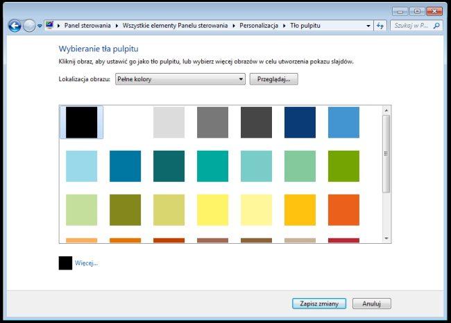 Wybór tła pulpitu Windows 7