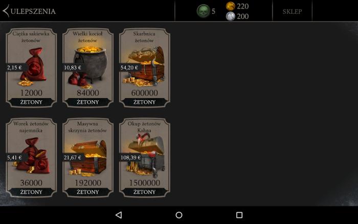 Zakupy w Mortal Kombat X