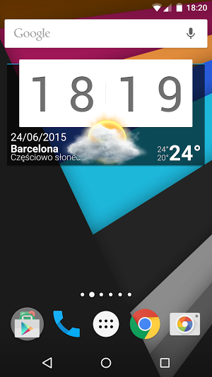 Android - główny ekran