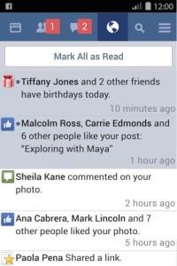 Facebook Lite powiadomienia