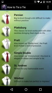 Jak zawiązać krawat aplikacja