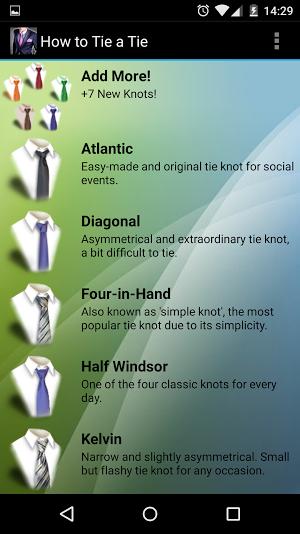 Jak zawiązać krawat na Androida