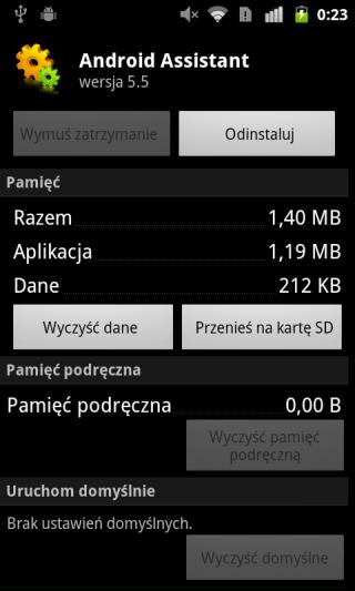 Przenoszenie aplikacji na SD