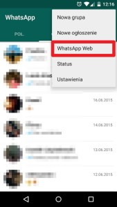 WhatsApp Web w Androidzie