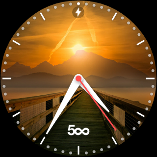 500px smartwatch face dla Android Wear