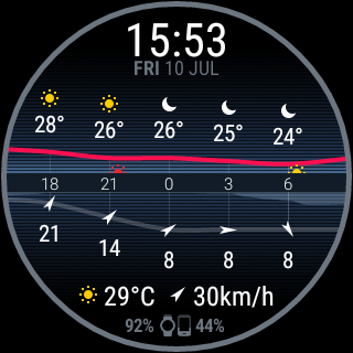 Insta Weather watch face
