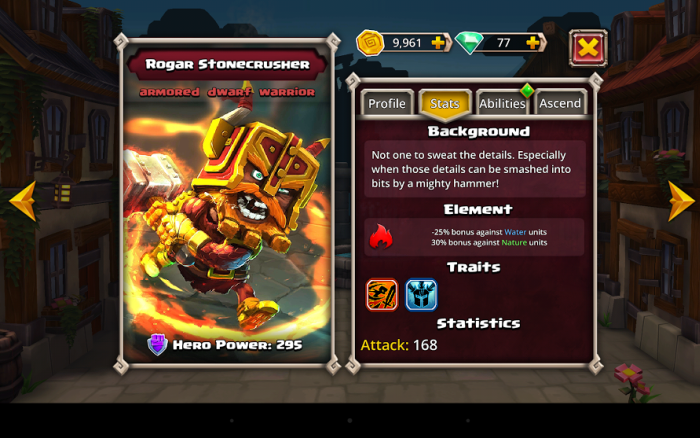 Dungeon Boss - rozwój bohatera