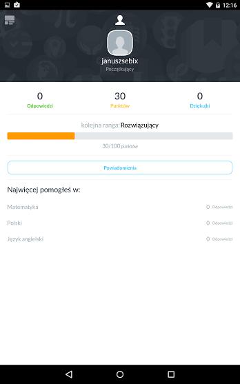 Profil na Zadane.pl na Androida