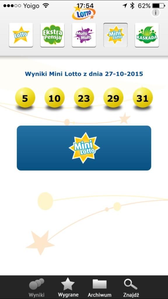 Sprawdź wyniki w Mini Lotto