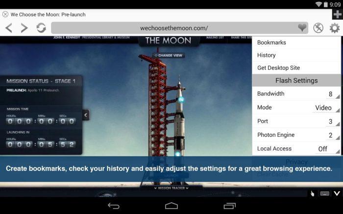 Photon Flash na Androida