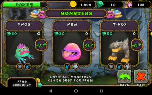 Sklep w My Singing Monsters